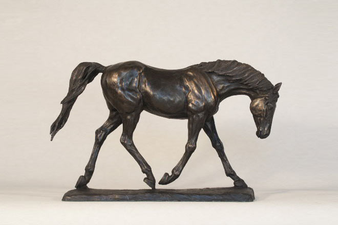 Horse Study II : A sculpture by Kate Woodlock