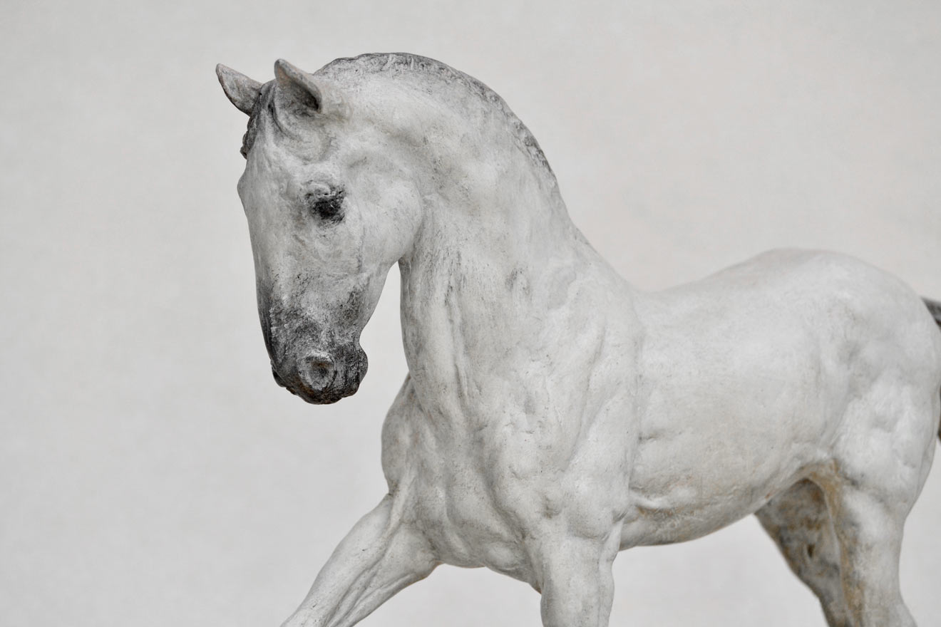 Spanish Horse Walking - Image 2 : A sculpture in patinated foundry bronze by Kate Woodlock