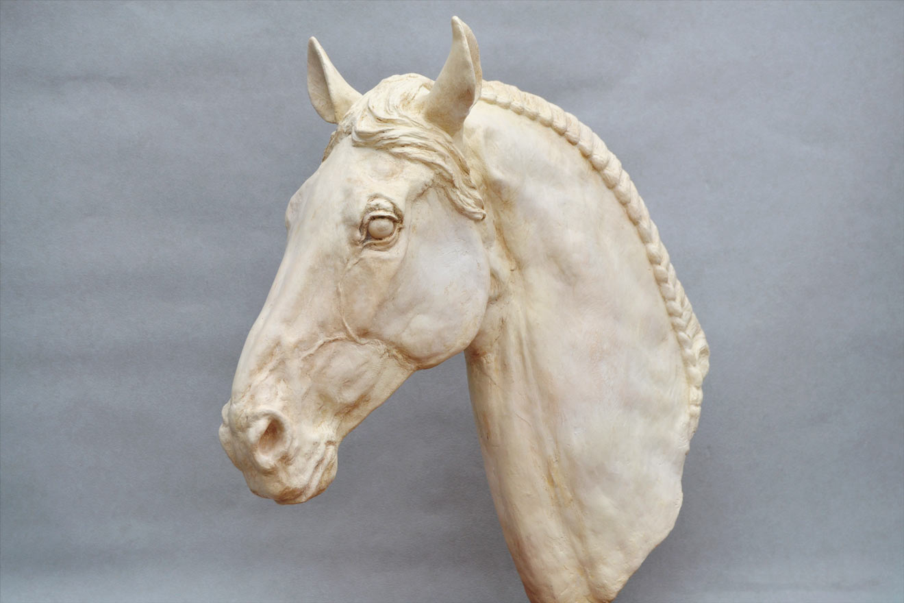 Horse Head V - Image 3 : A study in jesmonite by Kate Woodlock