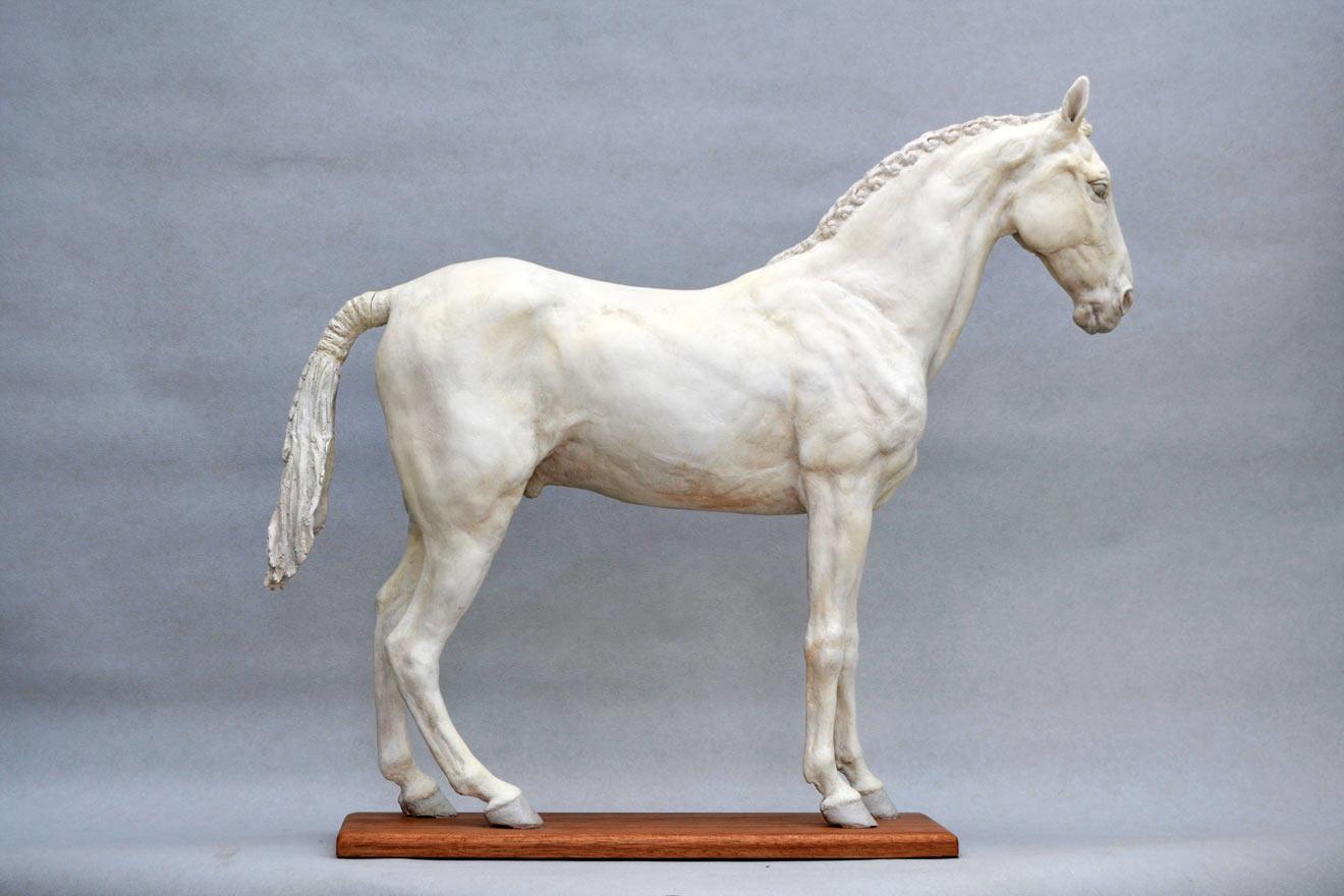 Standing Horse III - Image 1 : A sculpture in jesmonite by Kate Woodlock