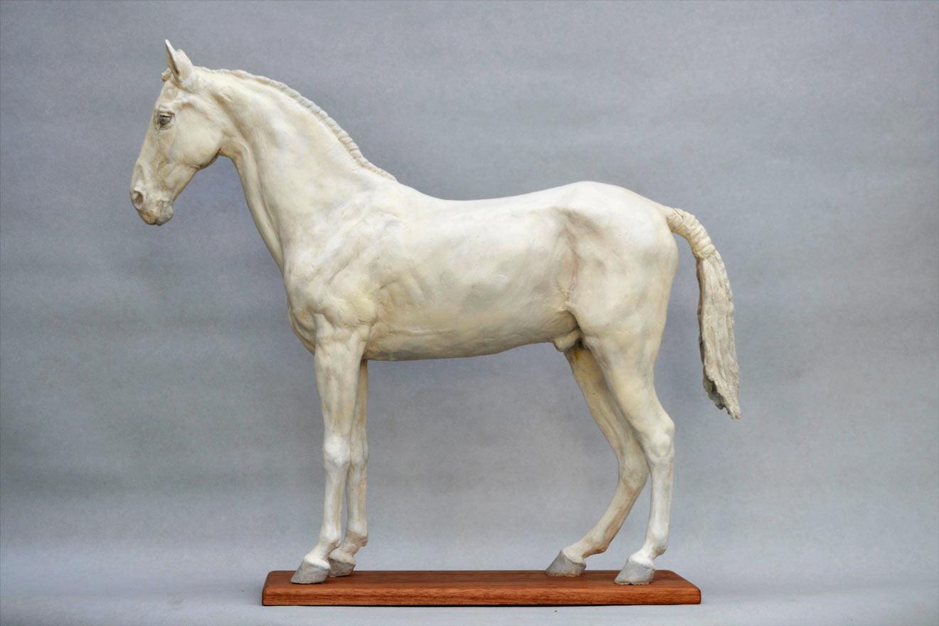 Standing Horse III - Image 3 : A sculpture in jesmonite by Kate Woodlock