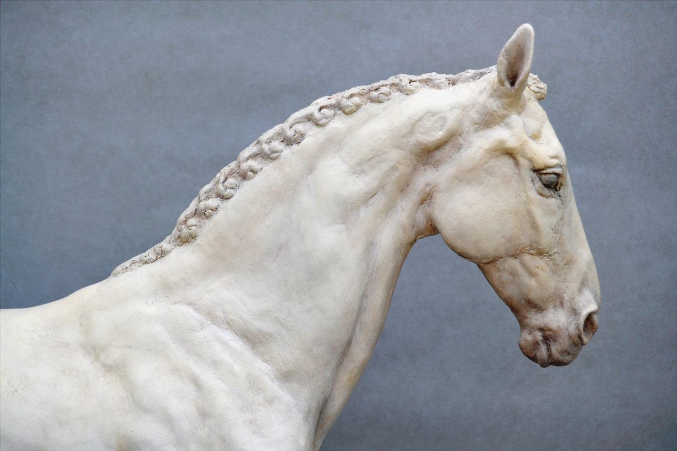 Standing Horse III - Image 2 : A sculpture in jesmonite by Kate Woodlock