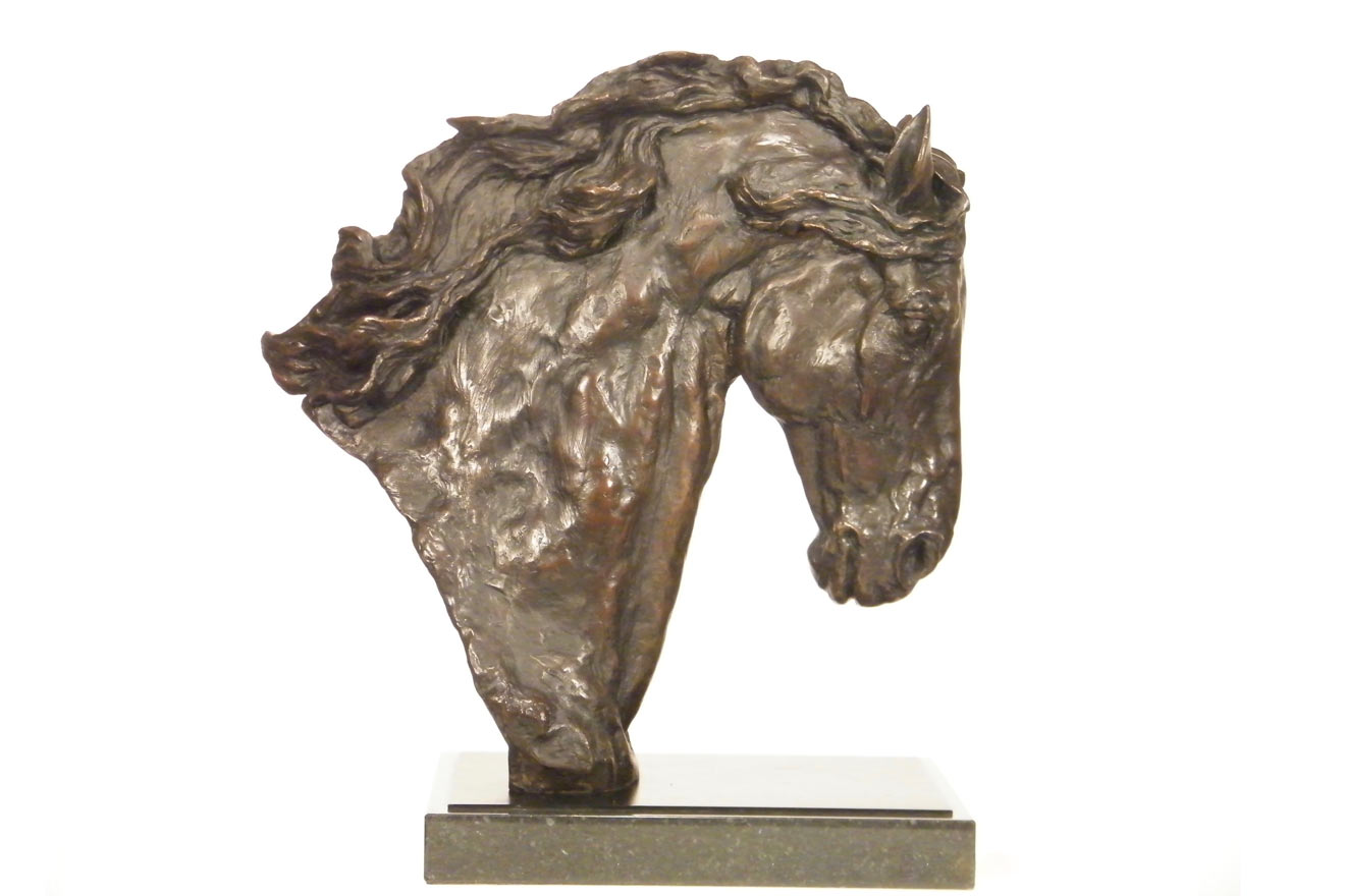 Horse Head IV - Image 1 : A study in foundry bronze by Kate Woodlock