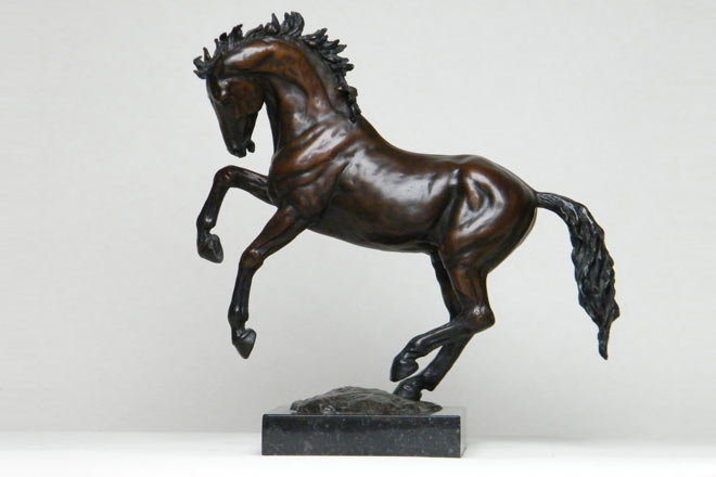 Small Horse I : A study in foundry bronze by Kate Woodlock