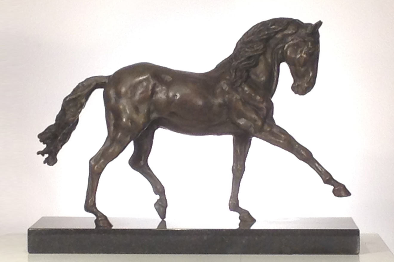 Spanish Horse Walking - Image 1 : A sculpture in foundry bronze by Kate Woodlock