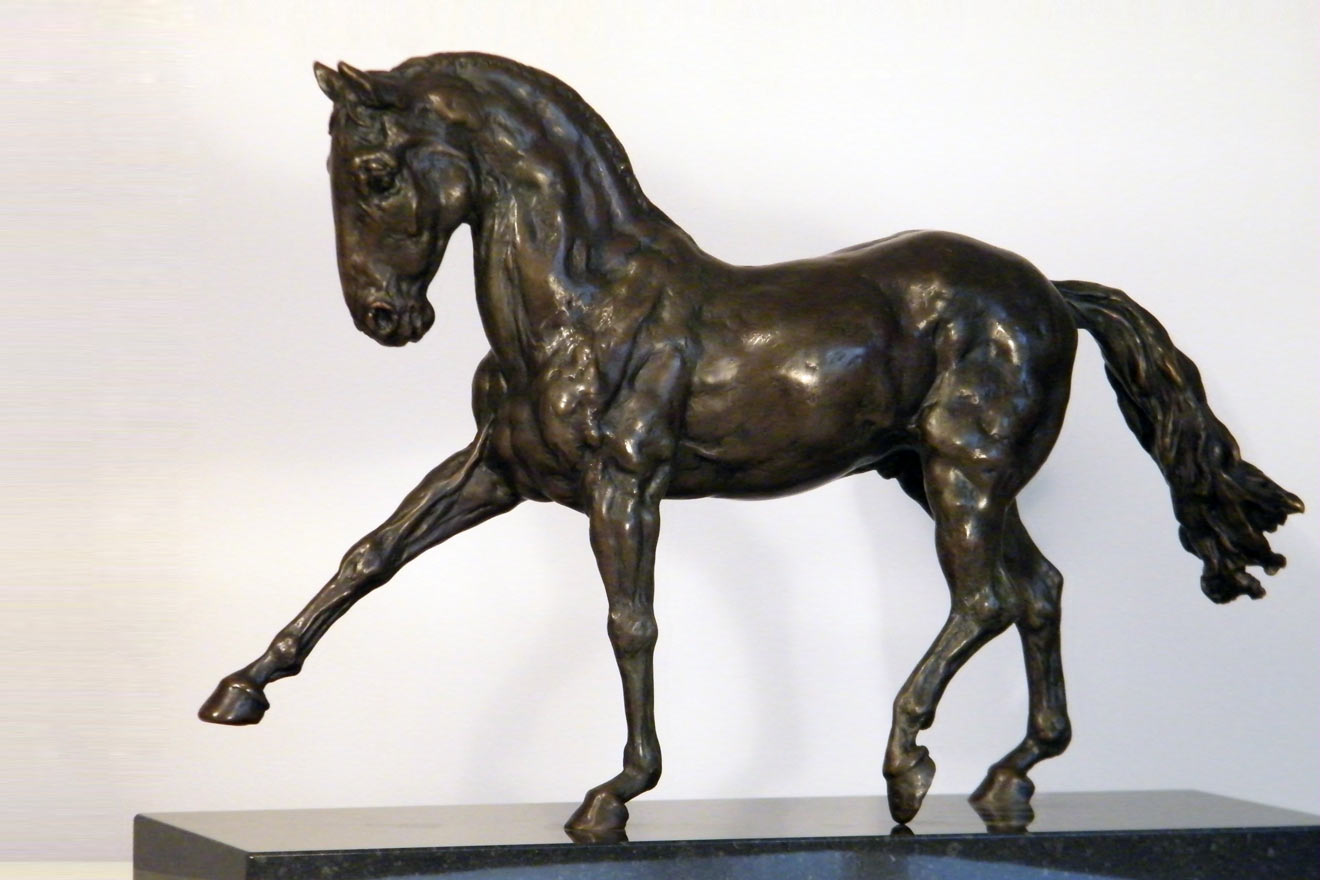Spanish Horse Walking - Image 2 : A sculpture in foundry bronze by Kate Woodlock