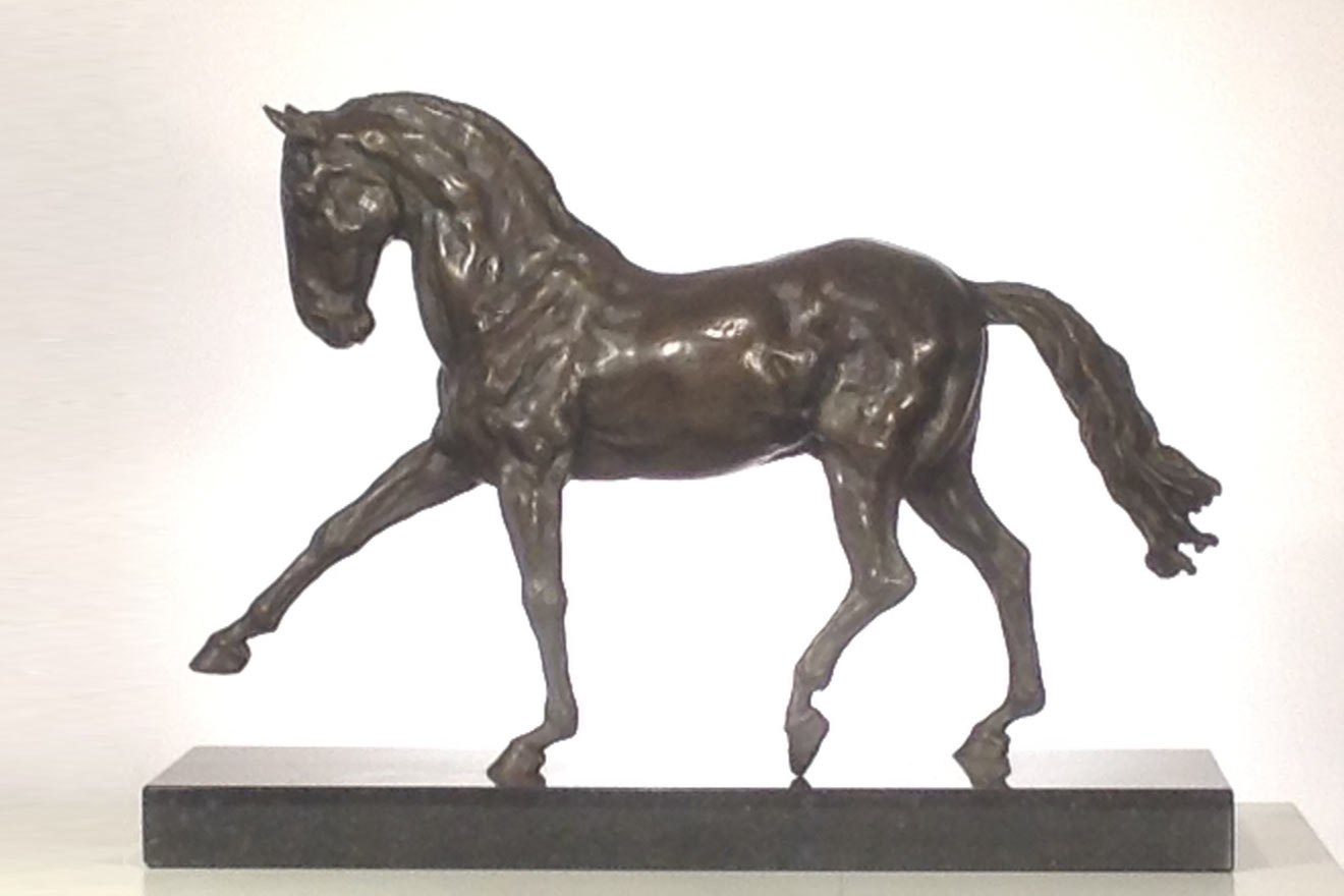 Spanish Horse Walking - Image 3 : A sculpture in foundry bronze by Kate Woodlock